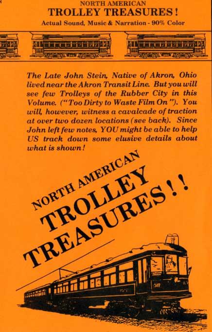North American Trolley Treasures DVD Revelation Video RVQ-NATT