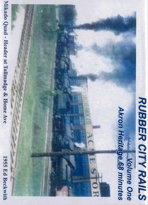 Rubber City Rails Volume 1 Akron Heritage DVD Train Video Revelation Video RVQ-RCR1