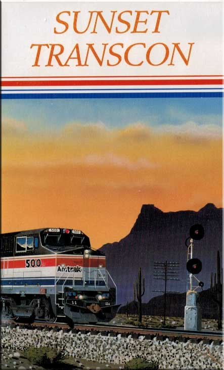 Amtraks Sunset Transcon DVD Train Video Revelation Video RVQ-SSTC