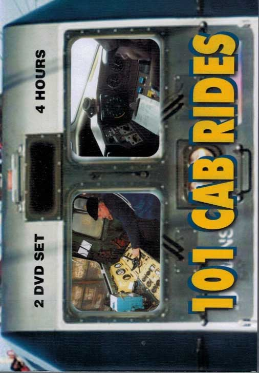 101 Cab Rides 2 DVD Set 4+ Hours Multiple Countries and Railroads Train Video Revelation Video RVQ101