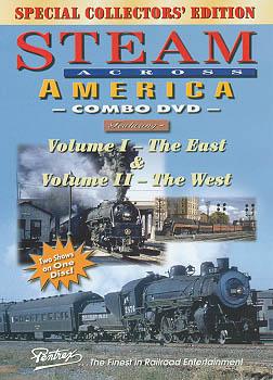 Steam Across America Combo DVD Train Video Pentrex SAA-DVD 748268004681