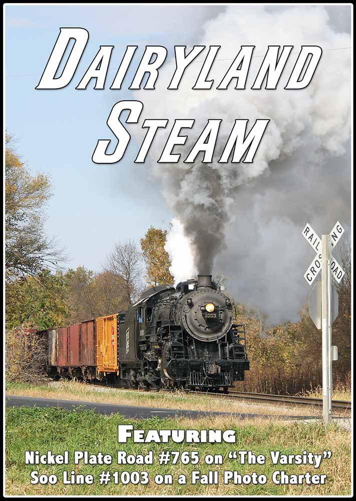 Dairyland Steam Featuring NKP 765 and SOO 1003 DVD Train Video Steam Video Productions SVP-DSDVD