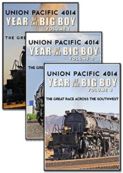 Union Pacific 4014 Year of the Big Boy 3 DVD Collection Vols 1-3