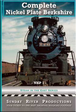 Complete Nickel Plate Berkshire DVD Train Video Sunday River Productions DVD-NKP1