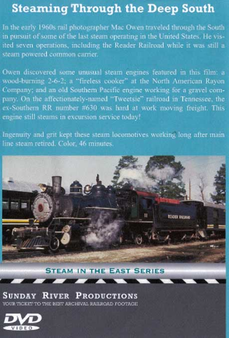 Steaming Through The Deep South Dvd