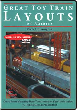 Great Toy Train Layouts of America Parts 1 through 6 TM Books and Video GTTLDVD 780484632330
