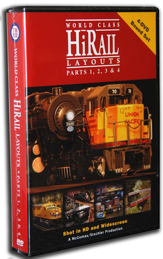 World Class HiRail Layouts Parts 1 2 3 & 4 4 Disc Box Set Train Video TM Books and Video HIRAILBOX 780484000047