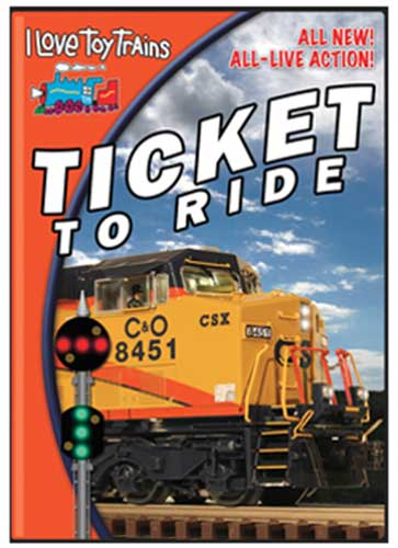 I Love Toy Trains Ticket to Ride DVD TM Books and Video ILRIDE 780484000269
