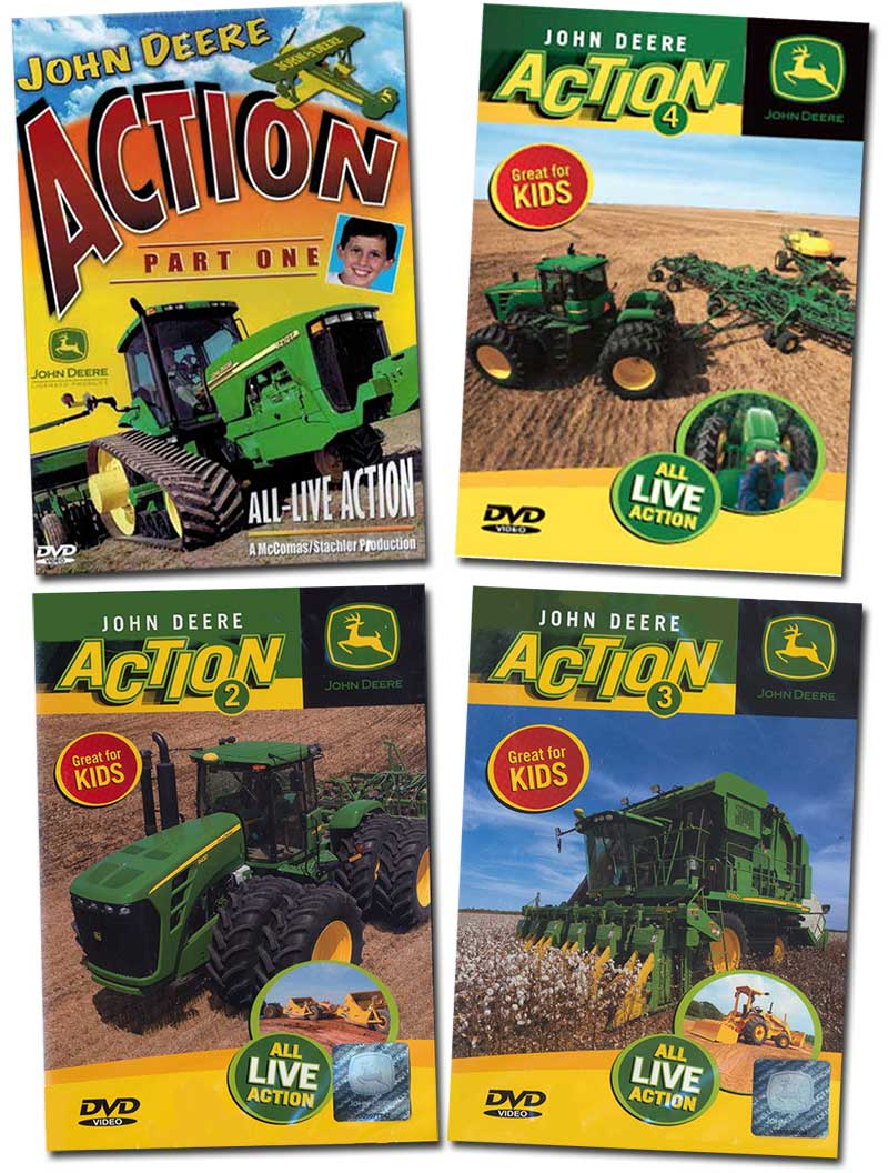 John Deere Action 4 DVD Collection Vols 1 - 4 TM Books and Video JDACTIONSET4