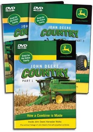 John Deere Country 3 DVD Collection Vols 1-3 Train Video TM Books and Video JDCOUNTRYSET