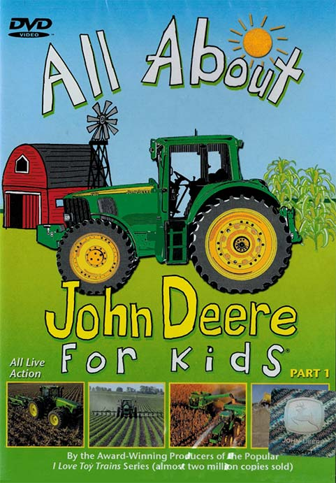 All About John Deere for Kids Part 1 DVD Train Video TM Books and Video JDDVD 780484635515