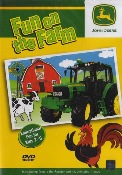 John Deere Fun on the Farm Part 1 DVD Train Video TM Books and Video JDFUN 780484635874