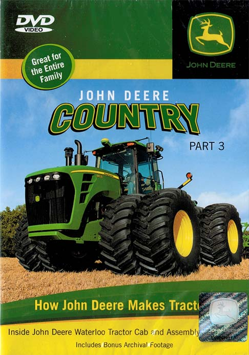 John Deere Country Part 3 DVD How Tractors are Made Train Video TM Books and Video JDTRACTOR 780484635744
