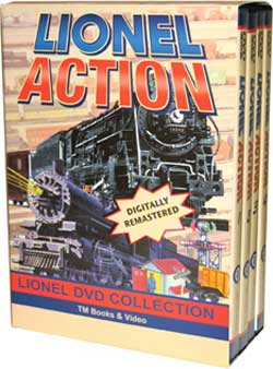 Lionel Action 4-DVD Box Set Train Video TM Books and Video LABOX 780484535716