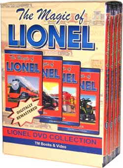 The Magic of Lionel 4-DVD Box Set TM Books and Video MLTBOX 780484535747
