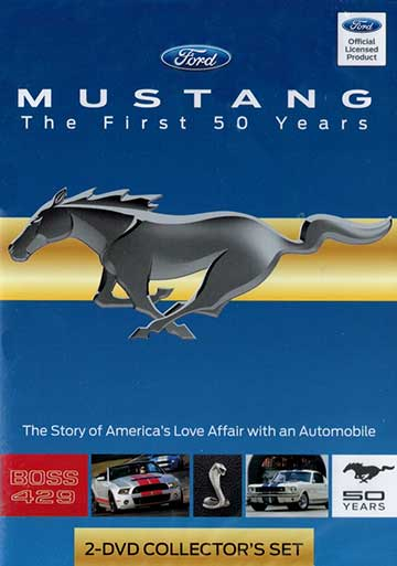 Mustang - The First 50 Years 2 Disc DVD Train Video TM Books and Video MUSTANG 780484000153