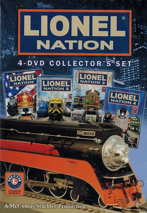 Lionel Nation 4-DVD Collectors Set TM Books and Video NATIONBOX 780484635799