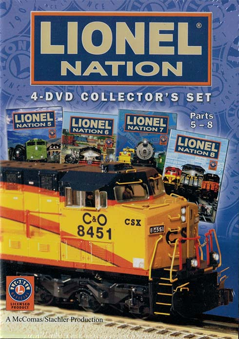 Lionel Nation 4-DVD Collectors Set Parts 5-8 Train Video TM Books and Video NATIONBOX2 780484961577