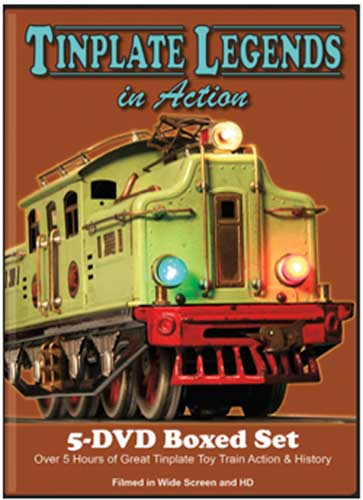 Tinplate Legends in Action 5 Disc DVD Box Set Train Video TM Books and Video TINBOX 78048452221