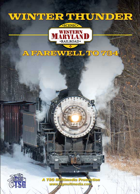 Winter Thunder Western Maryland Railroad A Farewell to 734 DVD Train Video TSG Multimedia 36581W 654367365786