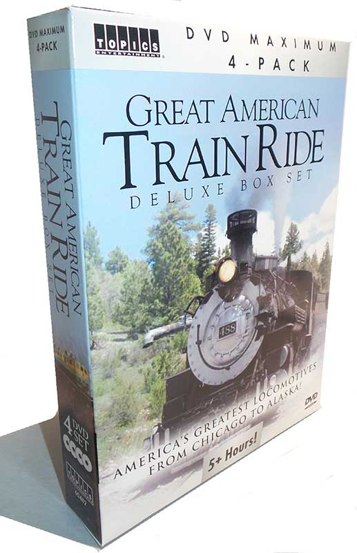Great American Train Ride Deluxe Box Set 4-DVD Topics Train Video Topics 60227 781735602270