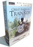 Great American Train Ride Deluxe Box Set 4-DVD Topics