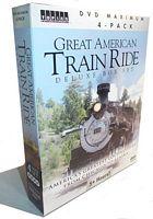 Great American Train Ride Deluxe Box Set 4-DVD Topics