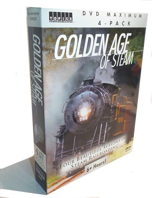 Golden Age of Steam 4 DVD Collectors Set Topics Train Video Topics 60283 781735602836