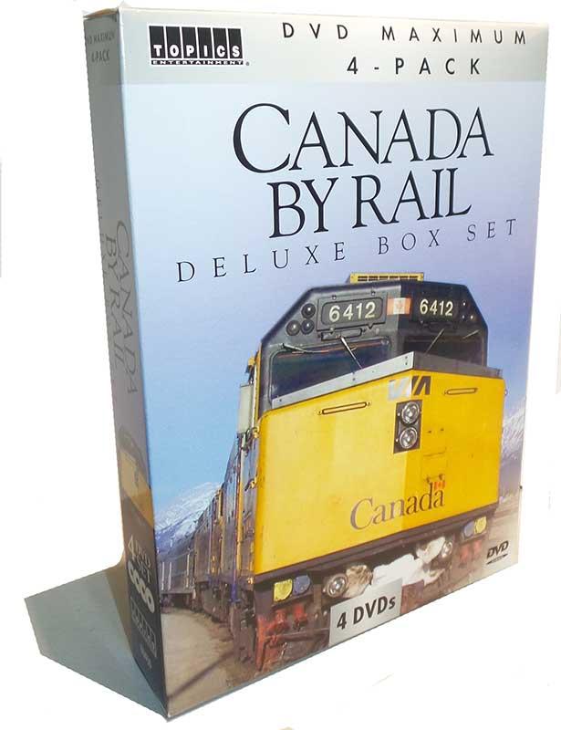 Canada By Rail Deluxe Box Set 4 DVD Collectors Set Train Video Topics 60293 781735602935