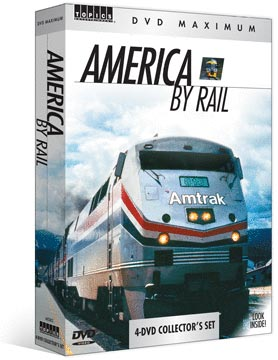 America By Rail 4-DVD Set  5+ Hours! Train Video Topics 60449 781735604496