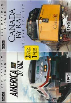 America By Rail - Canada By Rail Twin 4-Pak 8-DVD Train Video Topics 60456 781735604564