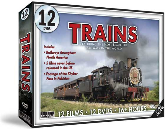 Trains 12 DVD Set - The Most Beautiful Railways in the World 16+ Hours Train Video Topics 60562 781735605622