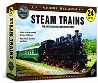 Steam Trains - The Most Scenic Railways Around the World 24 DVD Set