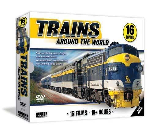 Trains Around the World 16 DVD Set Train Video Topics 60708 781735607084