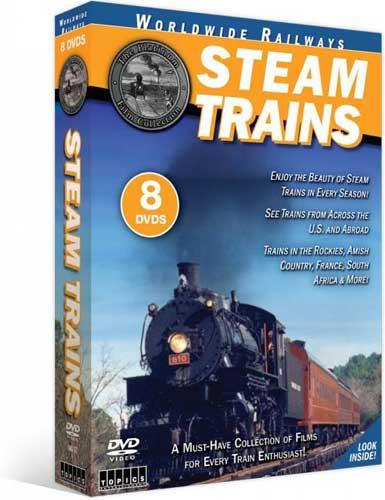 Worldwide Railways Steam Trains 8 Disc DVD Set Train Video Topics 60757 781735607572