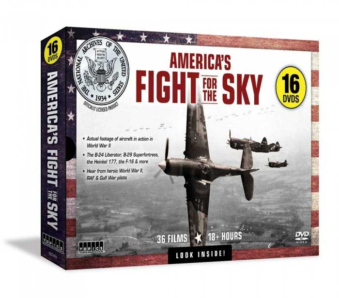 Americas Fight for the Sky 16 DVD Set Train Video Topics 60743 781735607435