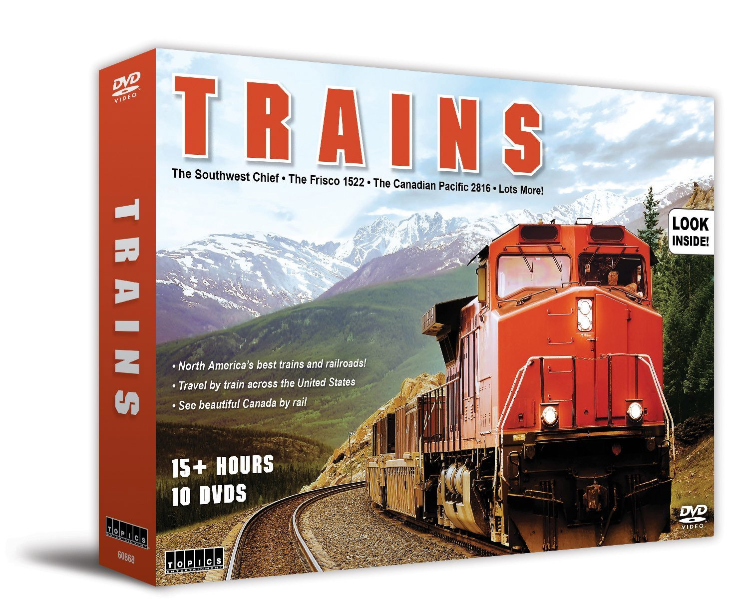 Trains North Americas Best 10 DVD Set Train Video Topics 60868 781735608685