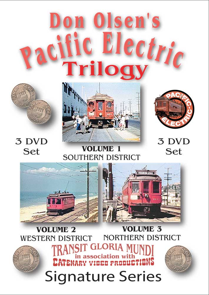Don Olsens Pacific Electric Trilogy 3 DVD Set Transit Gloria Mundi PET 658704167477