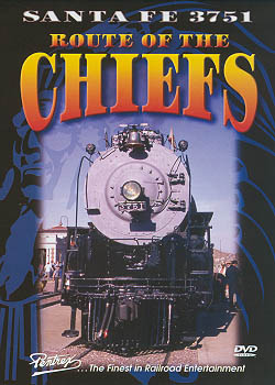 Santa Fe 3751: Route of the Chiefs DVD Train Video Pentrex VR051-DVD 748268004445