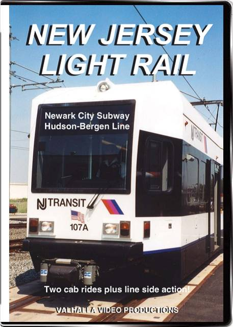 New Jersey Light Rail on DVD by Valhalla Video Valhalla Video Productions VV51 9781888949452