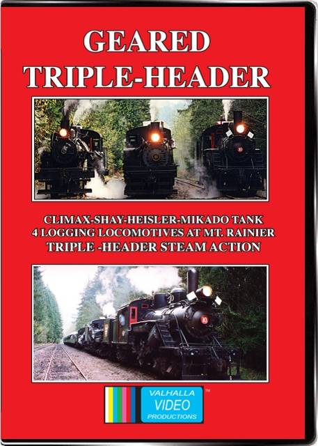 Geared Triple-Header on DVD by Valhalla Video Train Video Valhalla Video Productions VV56 9781888949513