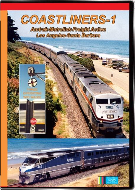 Coastliners Vol 1 Amtrak Metrolink on DVD by Valhalla Video Train Video Valhalla Video Productions VV57 9781888949520