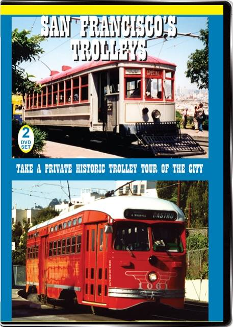 San Franciscos Trolleys Vol1 2-Disc on DVD by Valhalla Video Valhalla Video Productions VV60 9781888949551