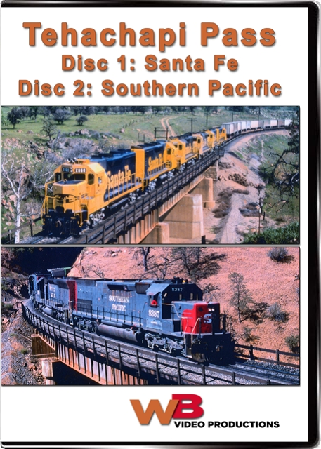 Tehachapi 1980s Part 1 and Part 2 The Santa Fe and The Southern Pacific Train Video WB Video Productions WB020