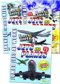 Lots & Lots of Jets & Planes 3 DVD Combo Set Vol 1-3